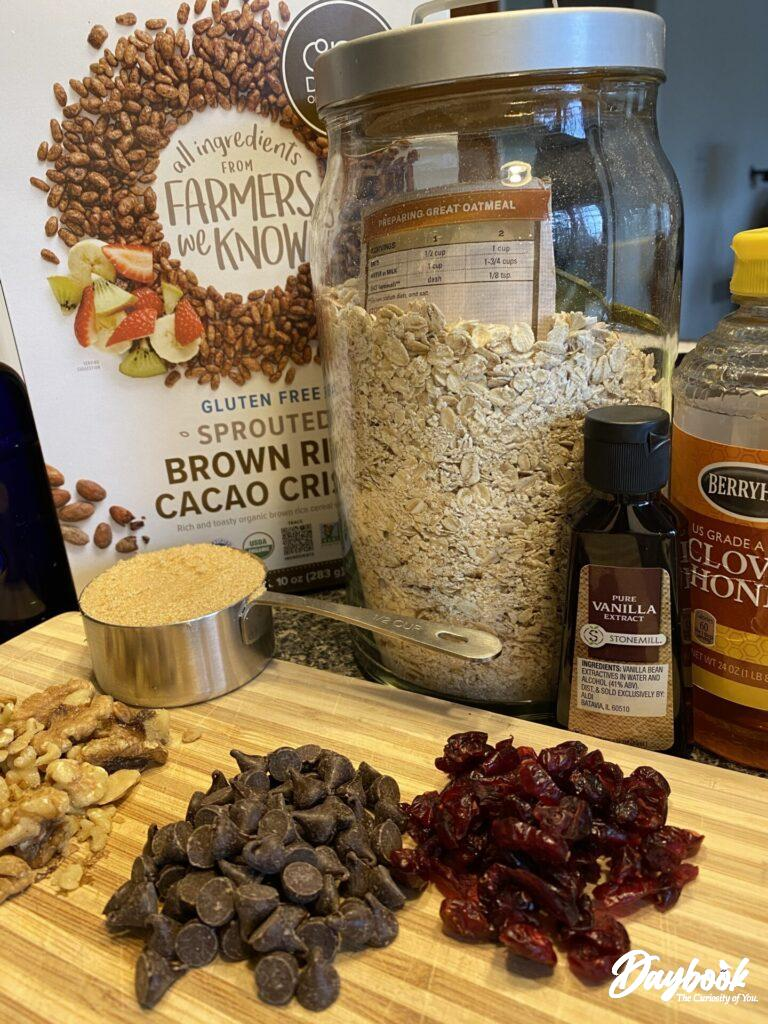 ingrdients for homemade granola