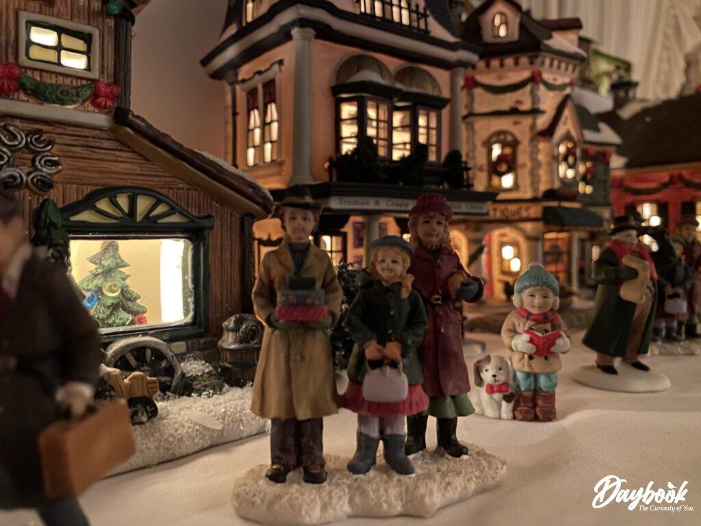 lighted mini Christmas village