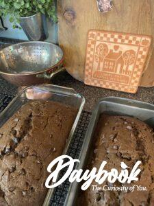 2 pans of chocolate zucchini bread