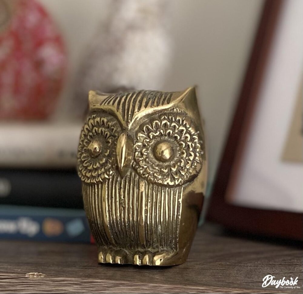 brass owl figure